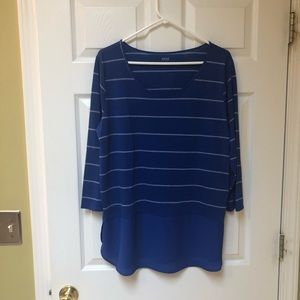 NWT!! Blue striped a.n.a top